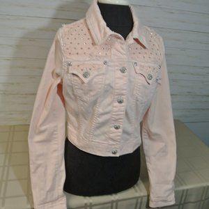 Miss Me Jeans LARGE Women Bubble Gum Pink Jacket